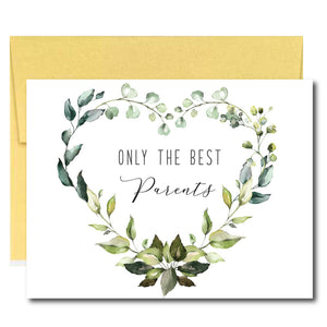 Greenery Pregnancy Announcement Cards for Parents