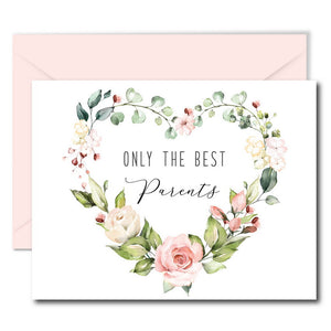 Floral Heart Pregnancy Announcement Card