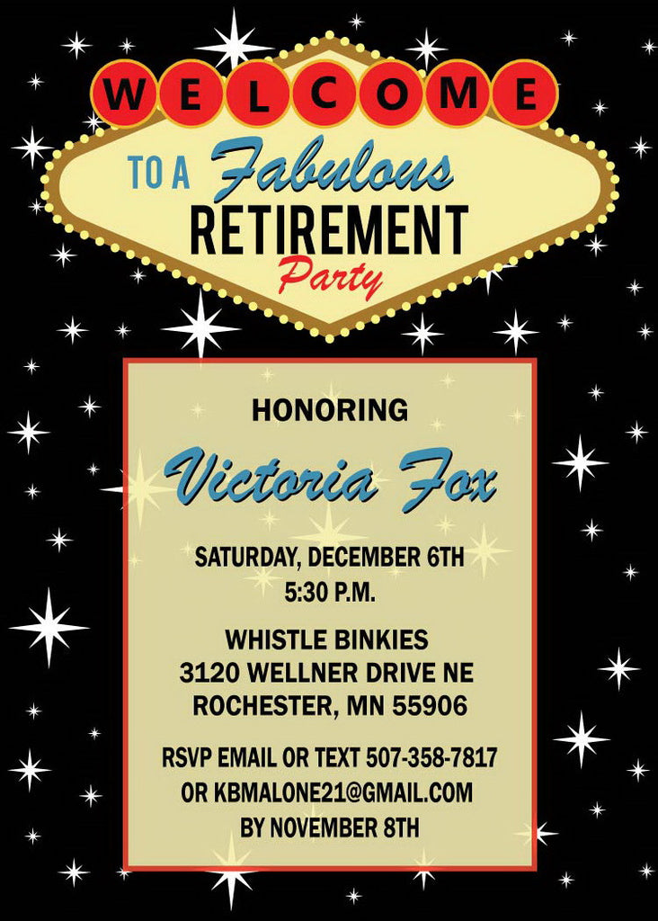 Las Vegas Retirement Invitation