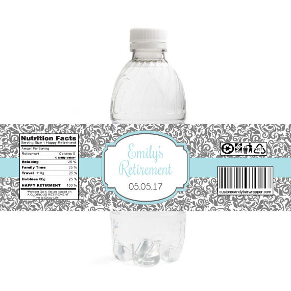 Floral Beauty Retirement Bottle Label