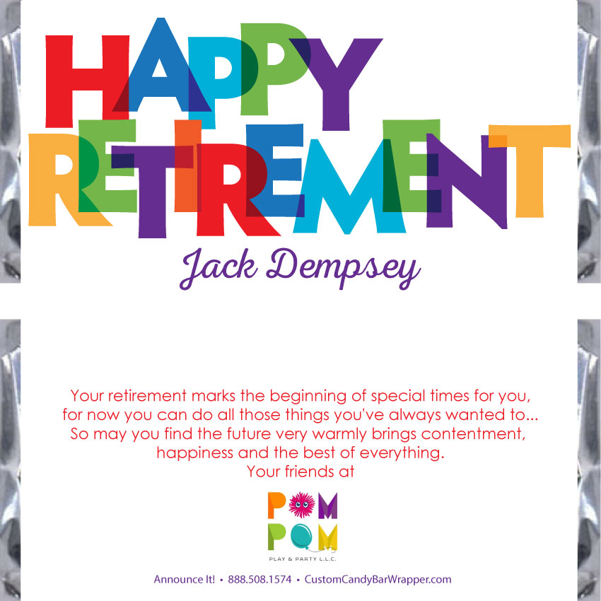 Floral Border Retirement Candy Bar Wrappers