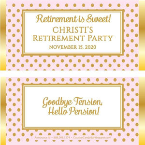 Stylish Retirement Candy Wrapper