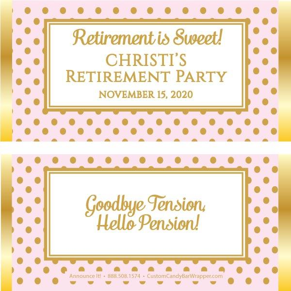 Stylish Retirement Candy Bar Wrappers