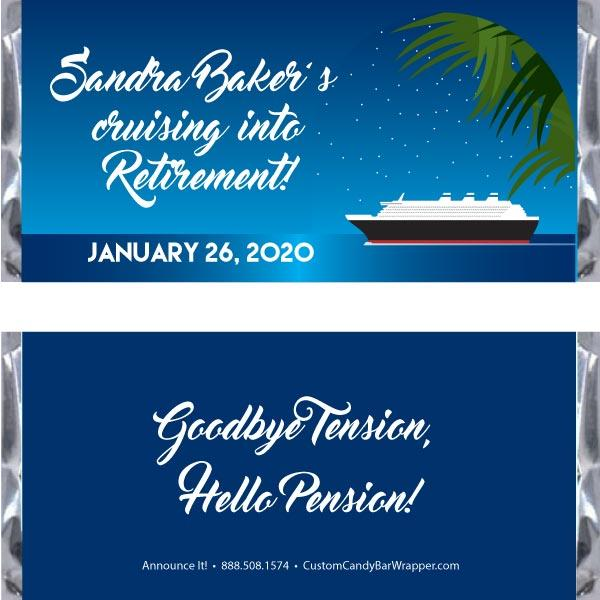 Cruise Retirement Candy Bar Wrappers