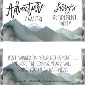 Adventure Retirement Candy Bar Wrappers