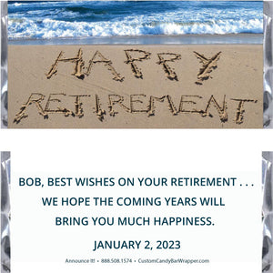 Beach Retirement Candy Bar Wrappers