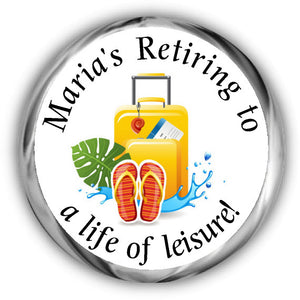 Travel Retirement Kisses Stickers