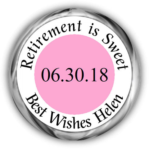 Retirement is SWEET Kisses Sticker