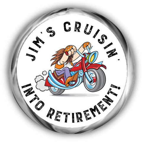 Motorcycle Retirement Kisses Sticker