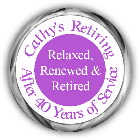 Three R's Retirement Kisses Stickers