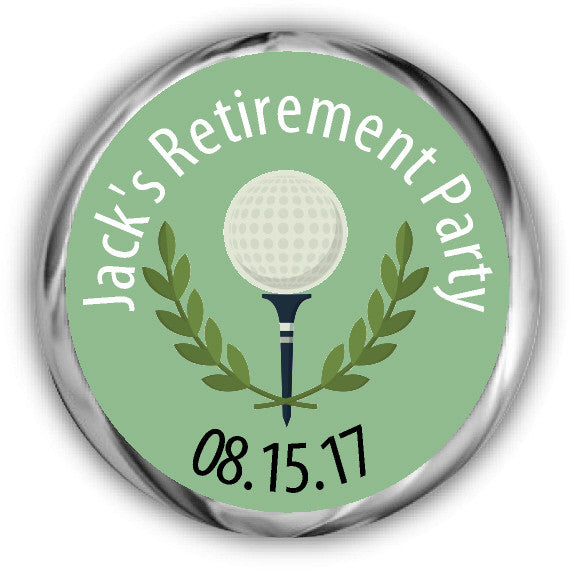 Golf Retirement Kisses Stickers