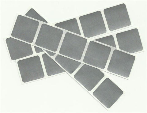 Silver 1 inch Square Scratch Off Stickers