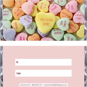 Conversation Hearts Valentine's Day Candy Bar Wrappers