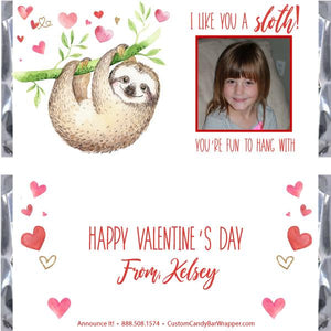 Kids Valentine's Day Candy Bar Wrappers
