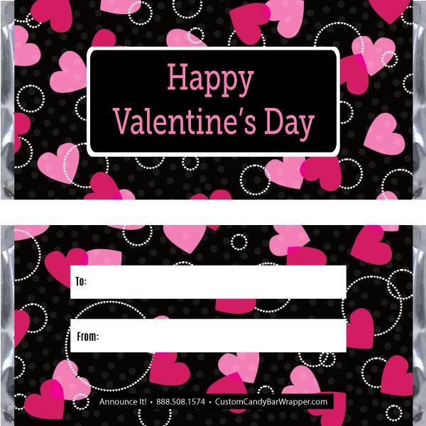 Hearts Valentine's Day Candy Bar Wrappers