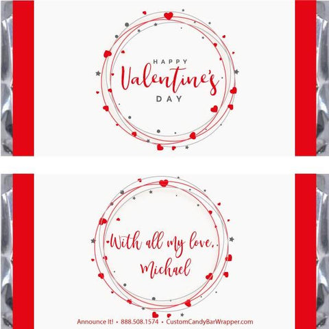 Modern Valentine's Day Candy Bar Wrappers