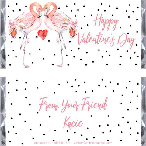 Flamingo Valentine's Day Candy Wrappers