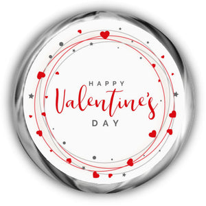 Hearts Valentine's Day Hershey Kisses Stickers