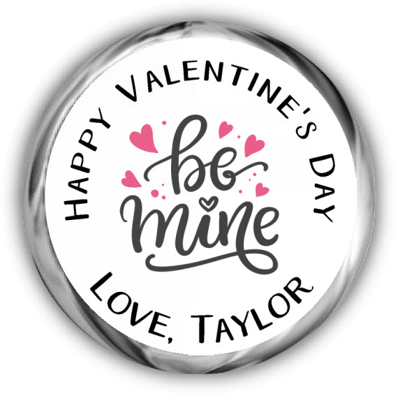Be Mine Valentine's Day Kisses Stickers