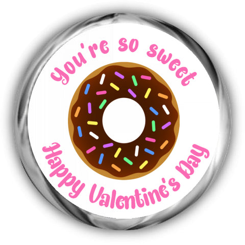Donut Valentines Hershey Kisses Stickers
