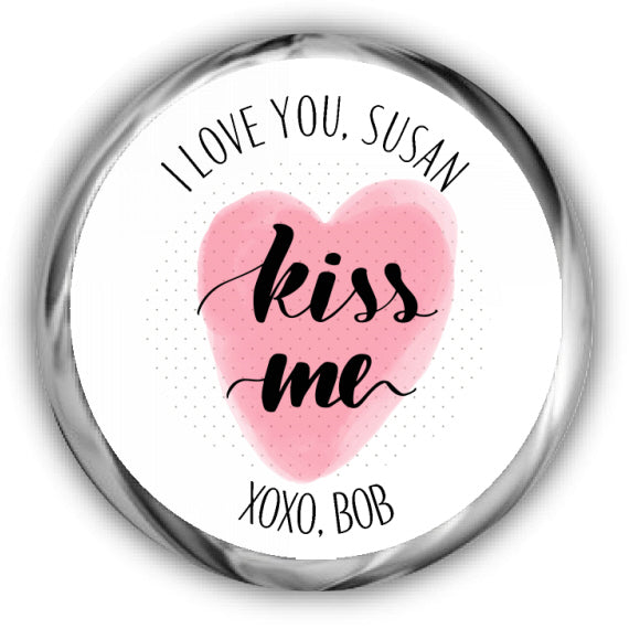 Words Valentine's Day Kisses Stickers