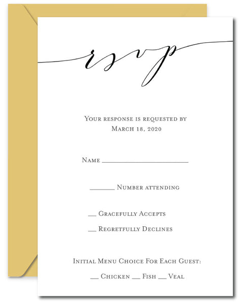 Calligraphy Wedding RSVP