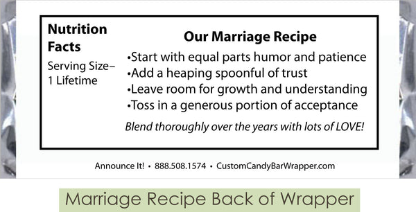 Marriage Recipe Back