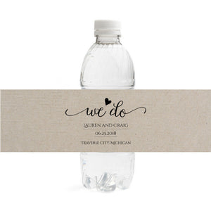Wedding Water Bottle Labels.We Do Wedding Water Bottle Labels