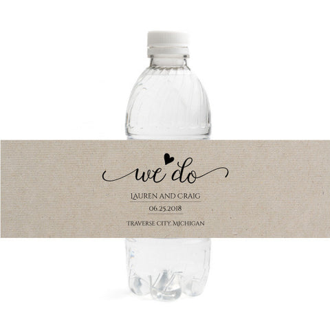 We Do Wedding Bottle Label