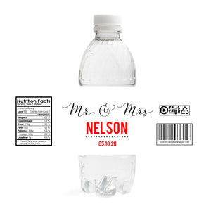 Wedding Water Bottle Labels.Mr And Mrs Wedding Water Bottle Labels