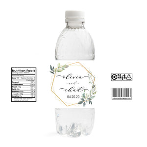 Wedding Water Bottle Labels.Wreath Wedding Water Bottle Labels