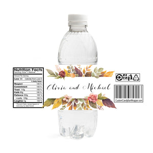 Fall Wedding Water Bottle Labels