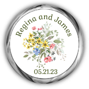 Snowflake Wedding Kisses Stickers