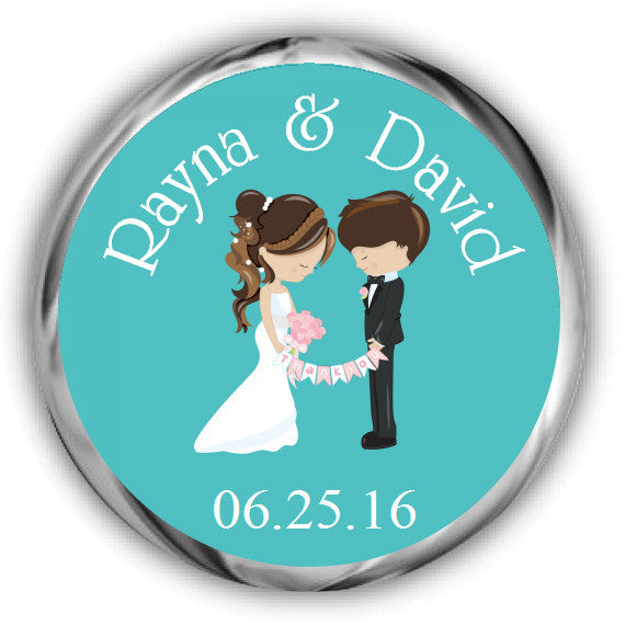 Couple Wedding Kisses Sticker
