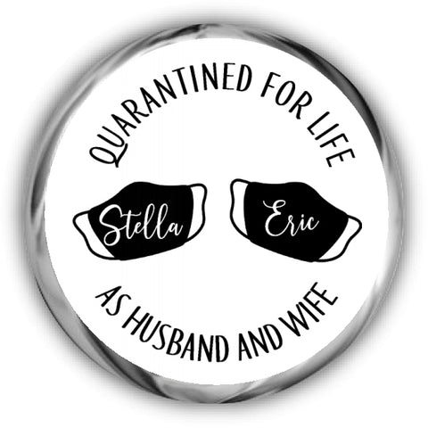 Quarantined for Life Wedding Kisses Stickers