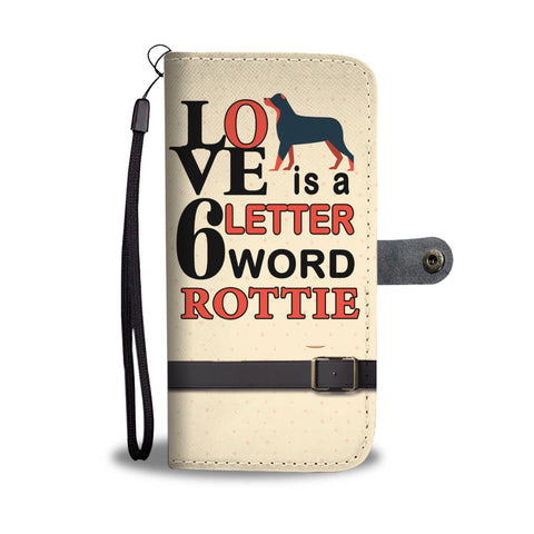 Rottweiler Lovers wallet phone case