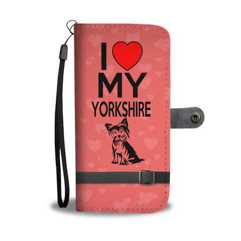 Yorkshire terrier wallet phone case