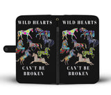 Wild Hearts can't be broken black wallet phone case
