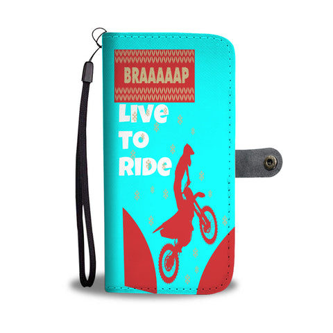 Love Motorbike Riding wallet phone case
