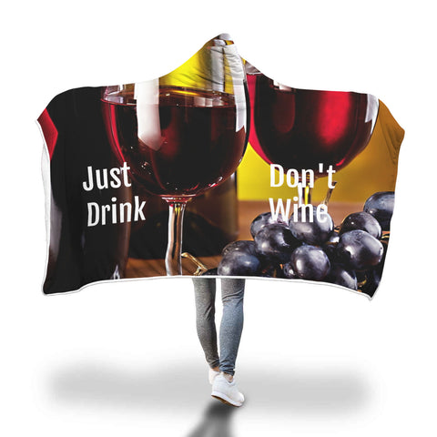 Wine Lovers Hooded Blanket