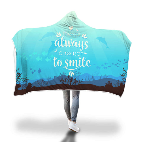 A reason to smile hooded blanket