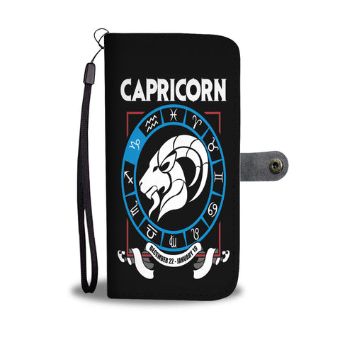 Zodiac Capricorn wallet phone case