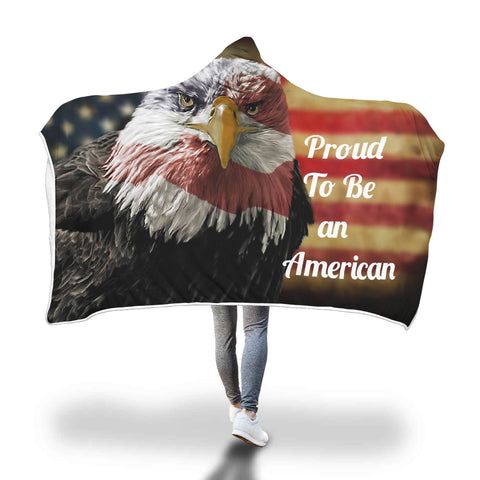 Proud to be an American Hooded Blanket