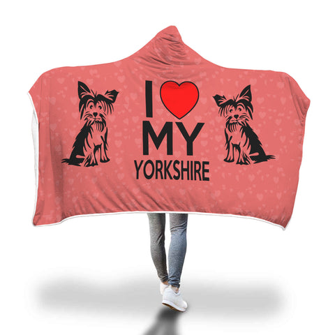 Yorkshire Terrier hooded blanket