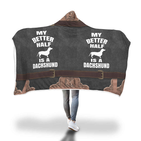 Better Half Dachshund hooded blanket