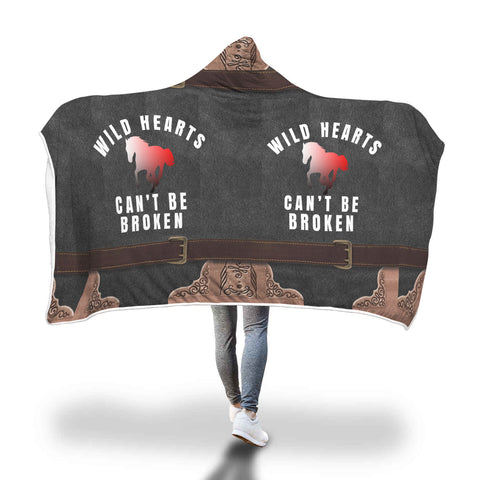 Wild Hearts Hooded Blanket