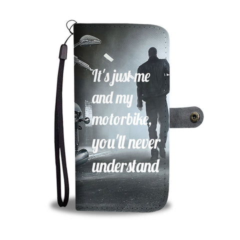 Motorbike lovers wallet phone case