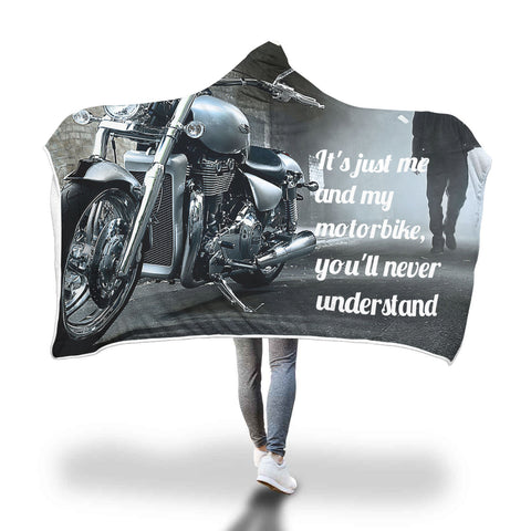 Motorbike lovers hooded blanket