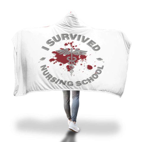 I survived Nursing School hooded blanket