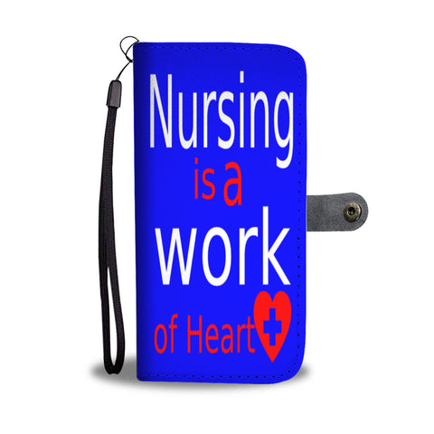 Nursing heart wallet phone case